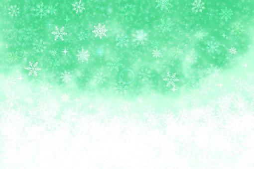 Snow background Green