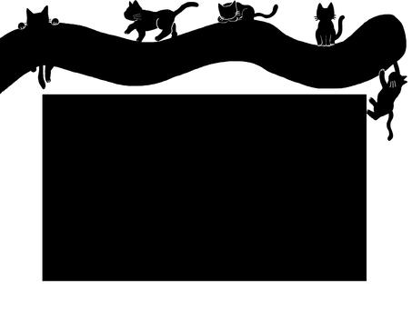 Frame black cat