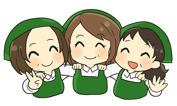 【Work】 Part-time employee Green apron