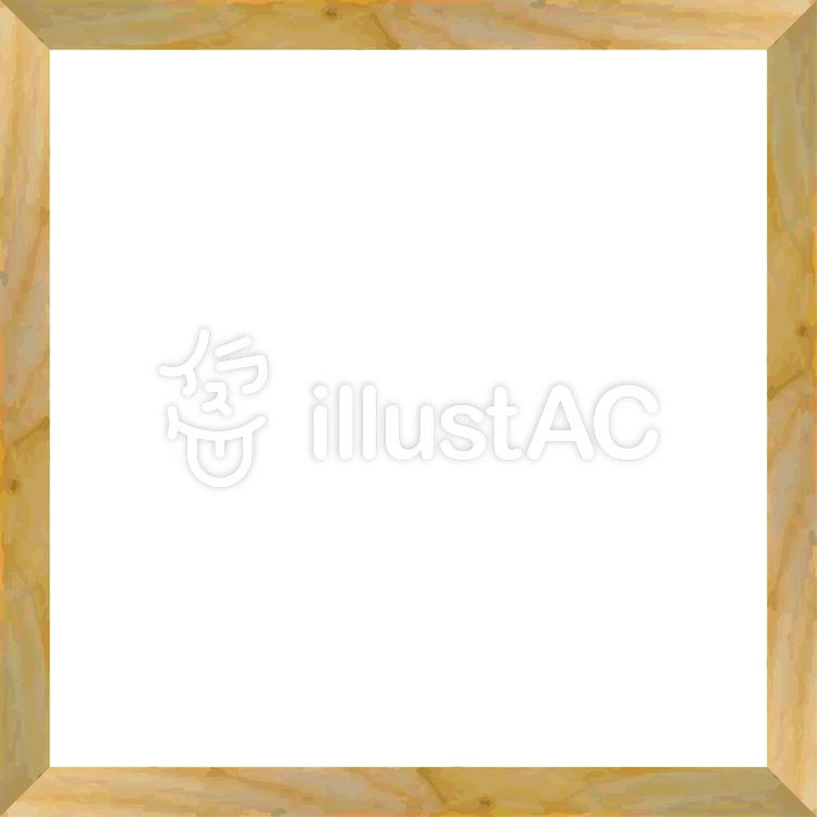 木枠額縁木製木目調木材画材フレーム飾り枠イラスト No 554418無料
