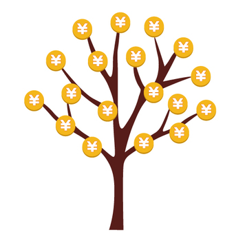 Image of golden tree