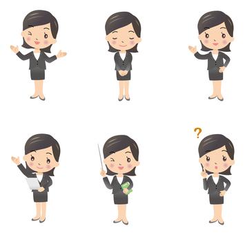 Business scene Women pose 3