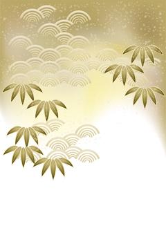 お正月笹の葉&青海波37