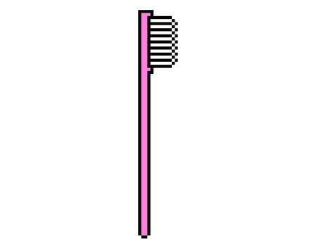 Toothbrush illustration dot picture