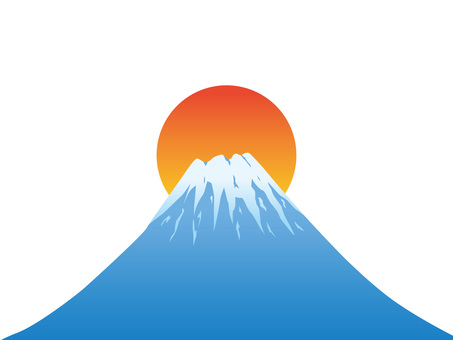 Fuji and first sunrise