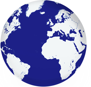 Image of spherical world map (British side)