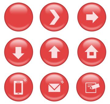 Button_ circle_shine 3_ red