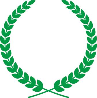 월계관 프레임 _ 녹색