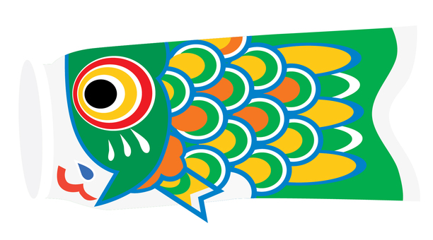 One cute carp streamer 01_ green