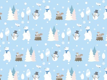 冬のパターン背景1