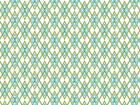 Japanese Pattern pattern (green and light blue)