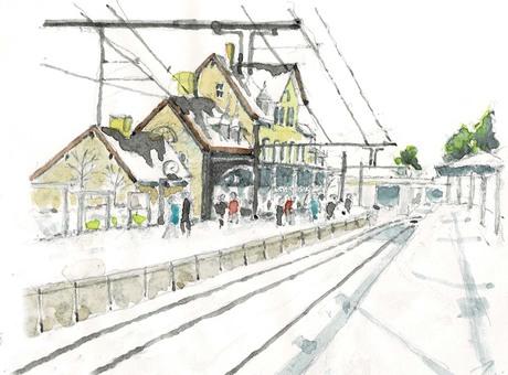 겨울 덴마크 철도 (DSB) 역사