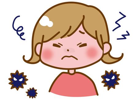 Headache, fever girl