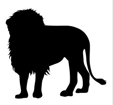 Silhouette - Lion 01