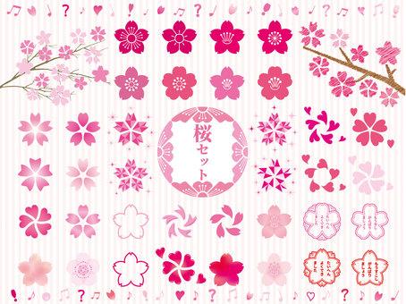 Cherry blossoms set