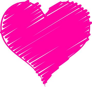Hand-painted heart (Vivid bitation)