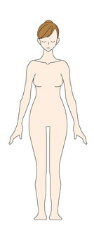 Female - naked - whole body