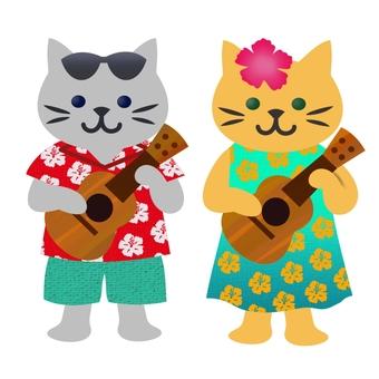 Ukulele cat cat color 4