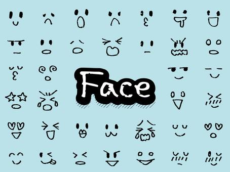 Emoticons / facial expression sets