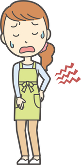 Apron youth long hair-194-whole body