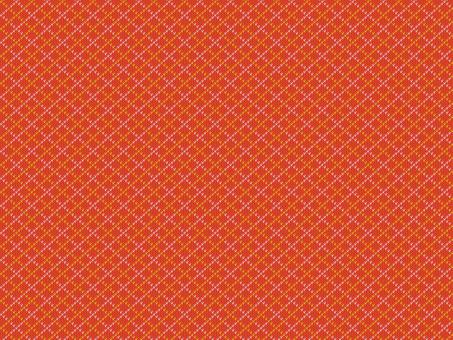 Knit Pattern Argyle - Red