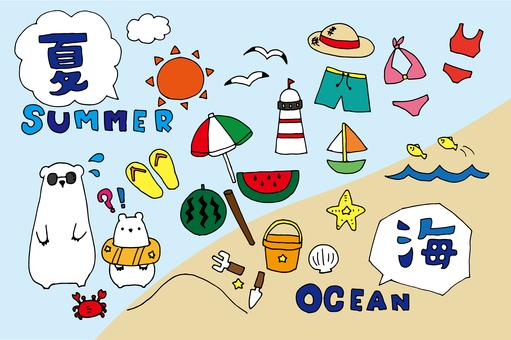 Summer material _ sea (color)