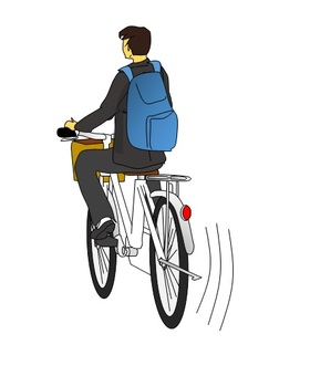 Businessman riding on a bicycle