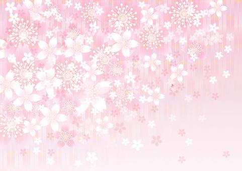 さくらの花&ピンク矢羽12