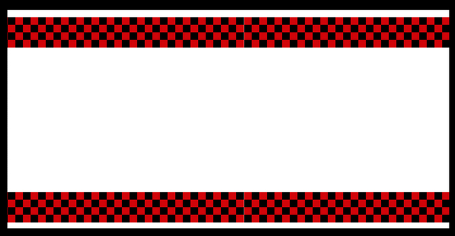 Checkered pattern frame red