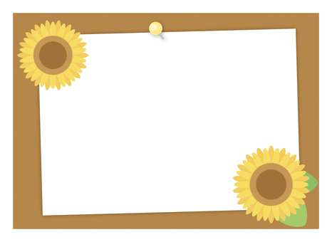 Paper on cork board (with sunflower)