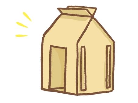 Cardboard shelter