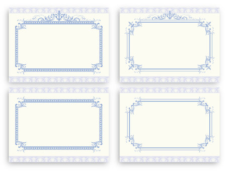 Classic pattern drawing card 02