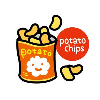土豆片象例證