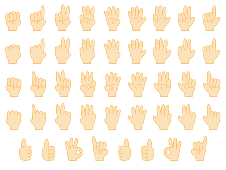 Set of hand sign (various forms of hands)