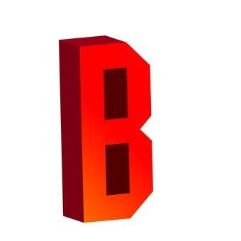 Three-dimensional text B