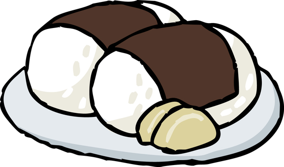 Bowl-shaped rice ball
