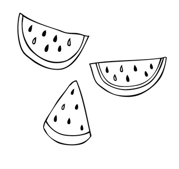 Watermelon line drawing color None