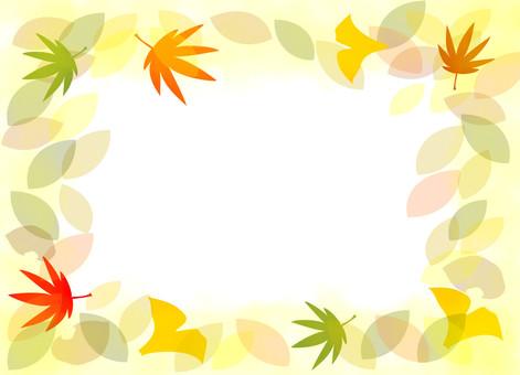 Autumn frame leaves 01