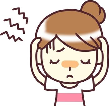 Female PW T under the headache