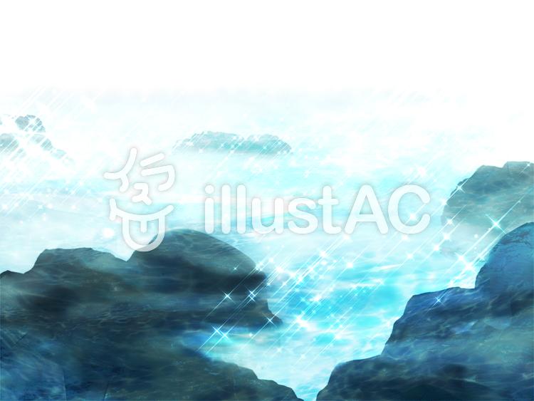 キラキラ岩場のイラスト