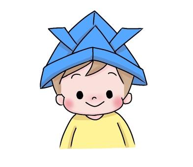 有蓋帽的男孩