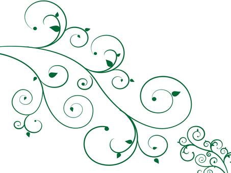 Decoration / flowers · vinegar / Swirls