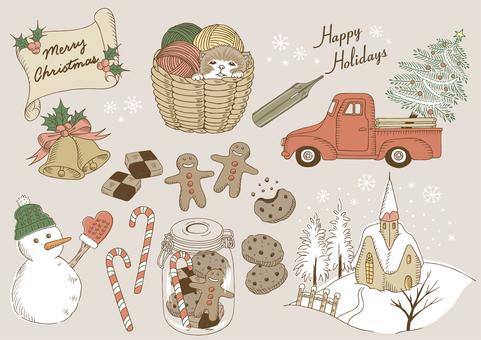 クリスマスのイラスト素材 カラー版