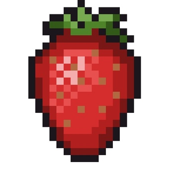 Dot picture strawberry