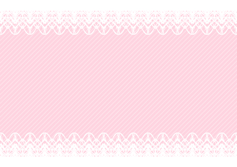 Top and bottom lace frame pink background