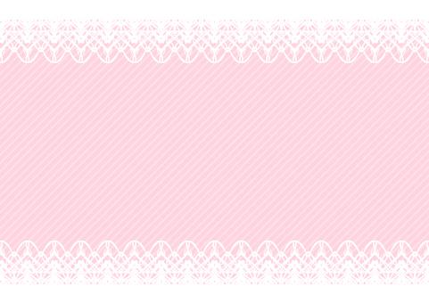 상하 레이스 프레임 핑크 색상 배경
