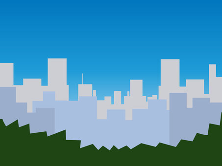 Daytime cityscape vector wallpaper landscape