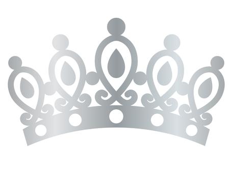 Tiara (teardrop · silver)