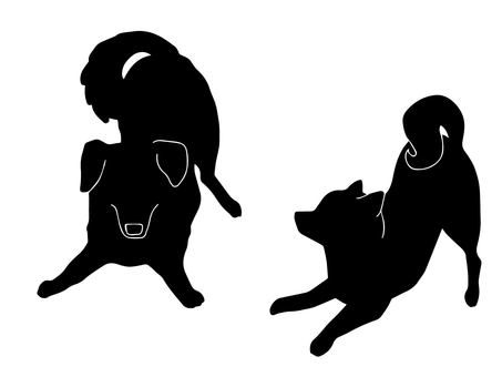 Two dogs (silhouette)
