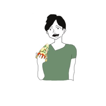 People who eat pizza (margarita)
